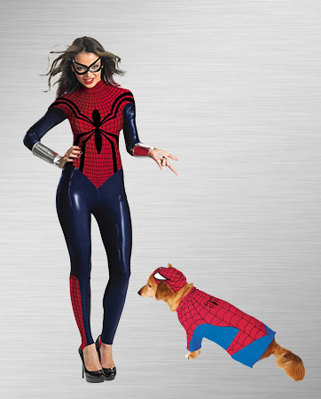 Spidergirl and Spider Dog Costumes