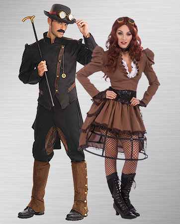 Steampunk Gentleman and Steampunk Vicky