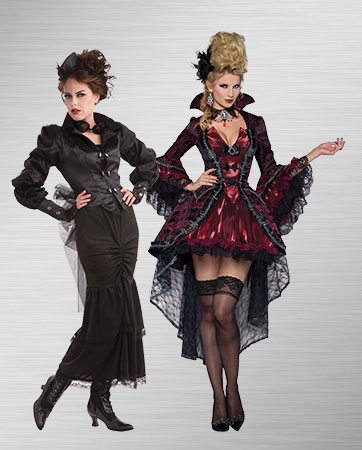 Steampunk Victorian and Victorian Vamp Costumes