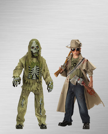 Zombie and Zombie Hunter Costumes