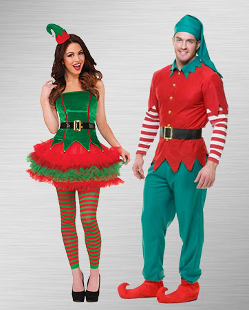 Mr. and Mrs. Elf Costumes