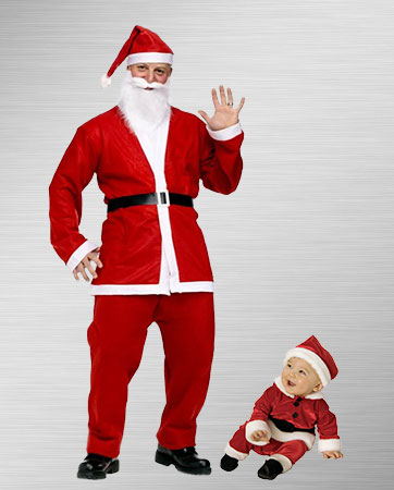 Santa Junior and Santa Senior Costumes