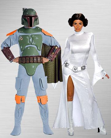 Boba Fett Princess Leia Adult Costumes