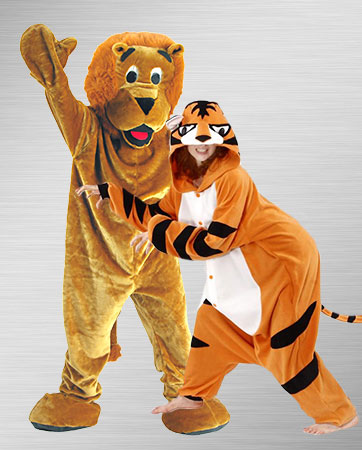 Lion and TIger Costumes
