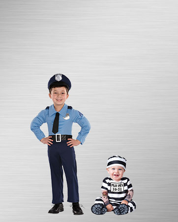 Police Baby and Prisoner Baby Costumes