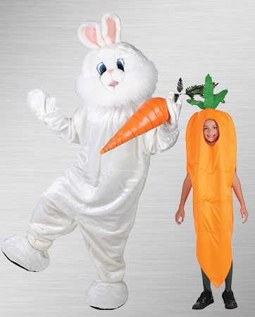 Bunny and Carrot Costumes
