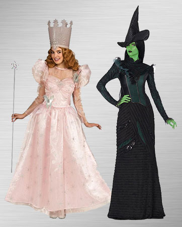 Elphaba and Glinda Women's Costumes