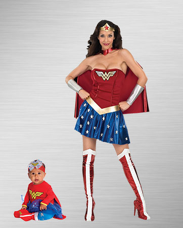 Mom Wonder Woman and Baby Wonder Woman Costumes