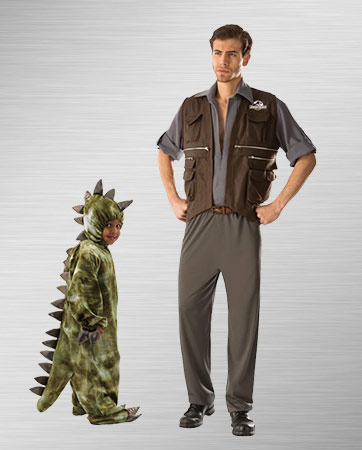 Owen and Baby T-Rex Costumes