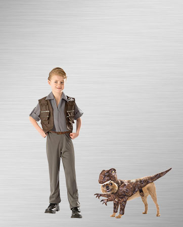Owen and Pet Raptor Costumes