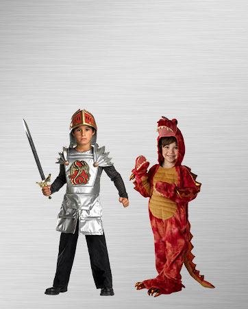 Knight and Dragon Kid's Costumes