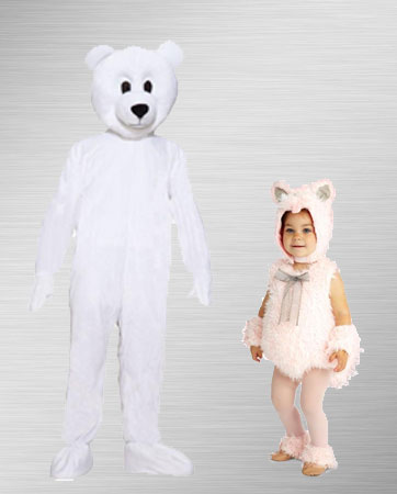 Polar Bear Adult and Baby Costumes