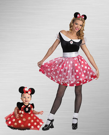 Mom and Girl Minnie Costumes