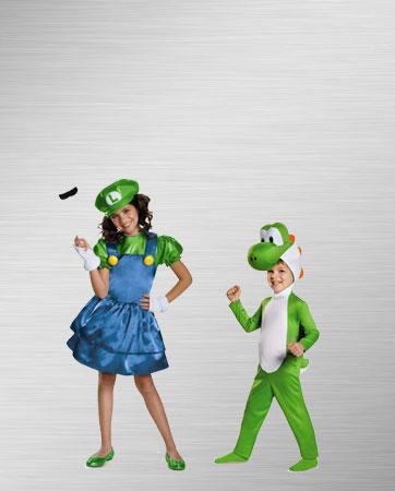 Luigi and Yoshi Costumes
