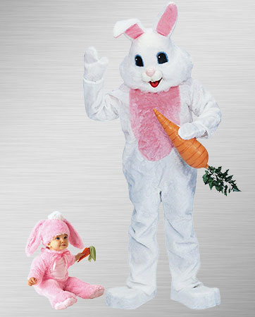 Easter Bunny and Baby Bunny Costumes