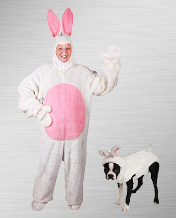 Bunny Adult and Pet Bunny Costumes