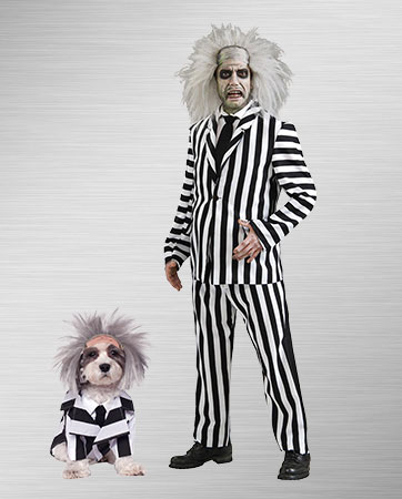Beetlejuice Adult and Dog Costumes