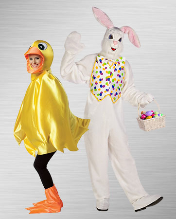 Easter Bunny and Duck Costumes
