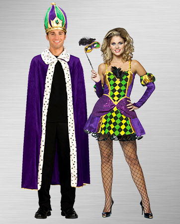 Mardi Gras King and Queen Costumes