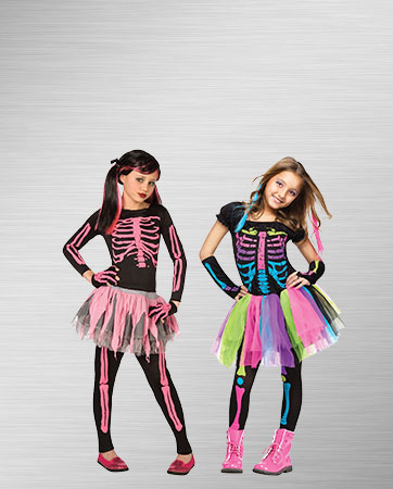 Punk Skeleton Girl's Costumes