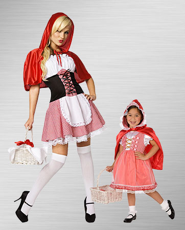 Red Riding Hood Girl and Adult Costumes