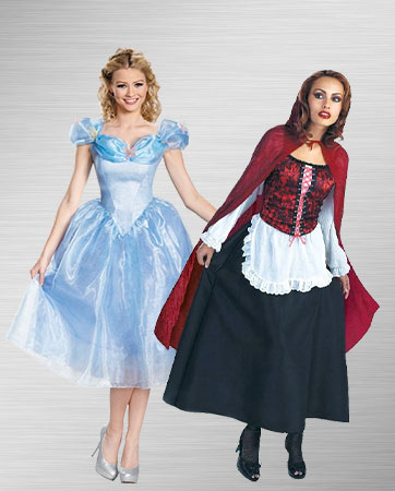 Red Riding Hood and Cinderella Costumes