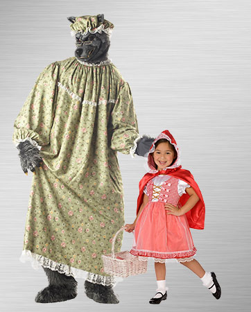 Red Riding Hood Child and Granny Wolf Costumes