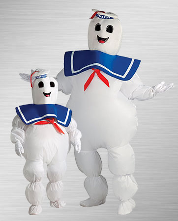 Stay Puft Marshmallow Adult and Child Costumes