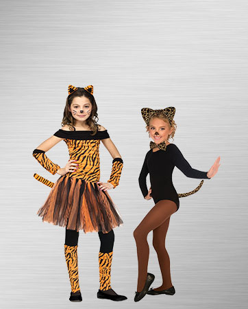 Kids Tiger and Leopard Costumes