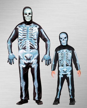 X-Ray Skeleton Son/Adult Costumes