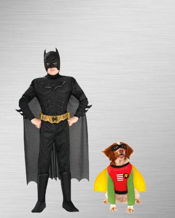 Kid Batman and Dog Robin Costumes